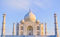 A fresh and clean view of the Taj Mahal at sunrise, Agra, Uttar Pradesh, India