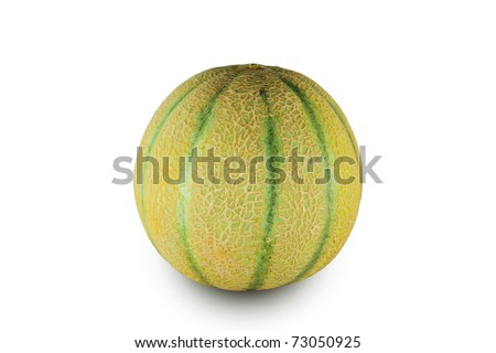 A fresh and delicious melon isolated on white background