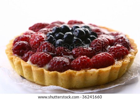 a fresh fruitcake with fruit cherry