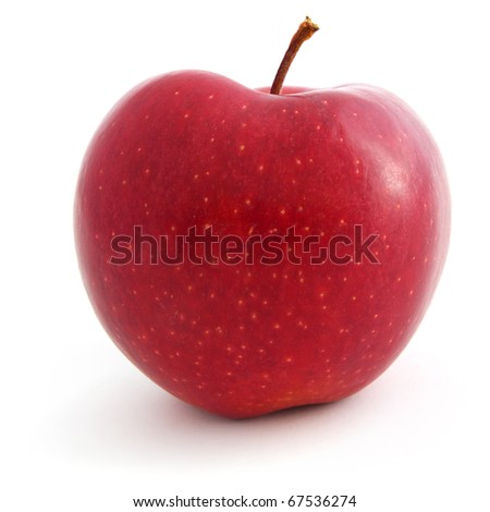 A Fresh red apple isolated on white background