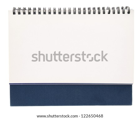 A front of blank white binder book