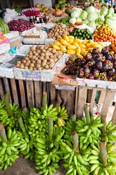 A fruit stand at a Philippine market.