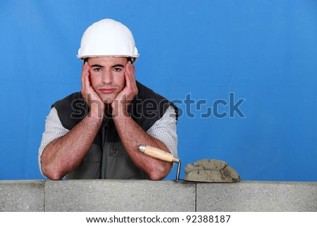 A frustrated bricklayer