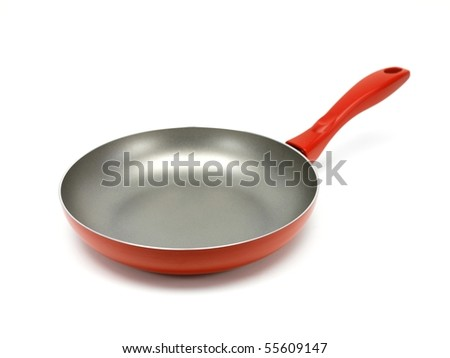 A frying pan on a kitchen bench