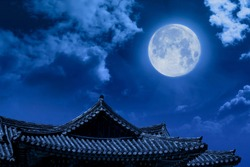 A full moon can be seen in Chuseok, Korea's Thanksgiving Day.