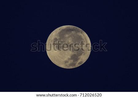 A Full Moon over Toronto, Ontario. Photo taken September 6th, 2017. #712026520