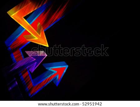 3d Graffiti Styles. 3D graffiti style arrows.