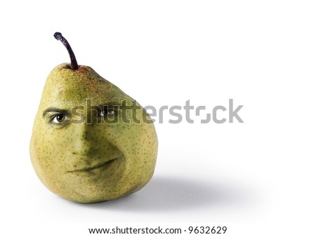 funny fruit. stock photo : A funny fruit