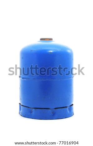 a gas cartridge for a portable stove on a white background