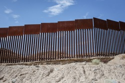A general View of the US-Mexico Border Wall