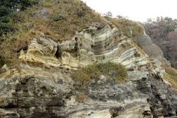 a geologic stratum