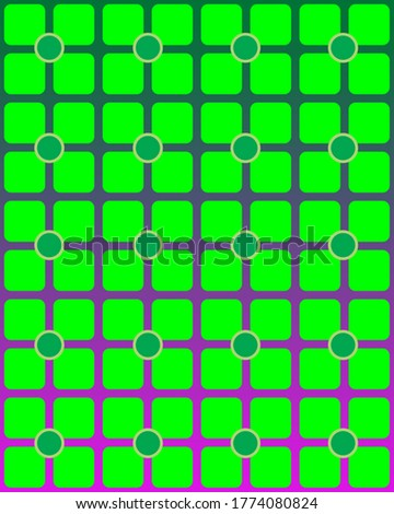 a geometric pattern for textile, decoration, ornament, stationary, background. Green shapes. Stok fotoğraf ©