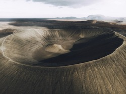 A giant volcanic crater in Iceland