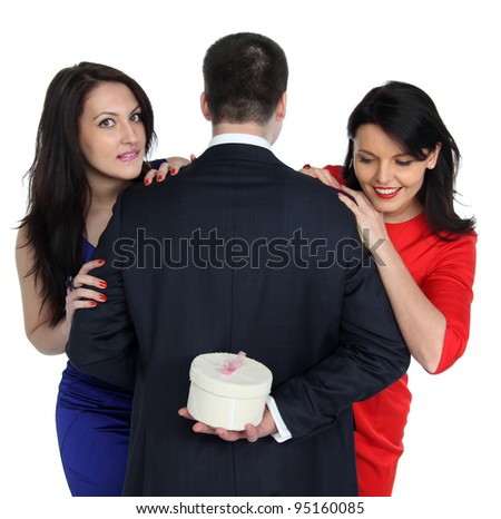 a gift for two young women - stock photo