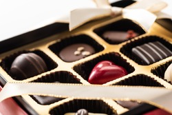 A gift with lots of Valentine's Day chocolates