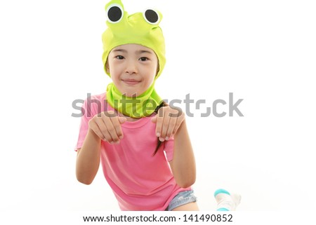 A girl wearing costume #141490852