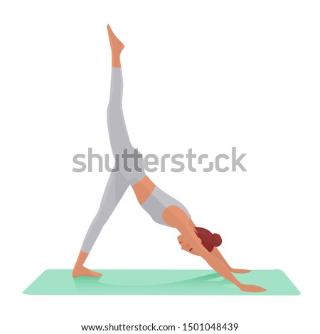 A girl who is doing yoga exercise to lose weight and lose fat a simple illustration material