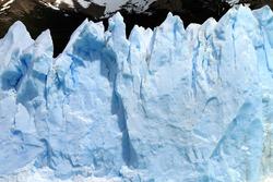 A Glacier cliff in Patagonia, South America.