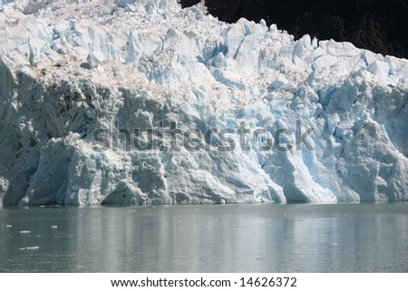 A Glacier on the water in Patagonia, Argentina