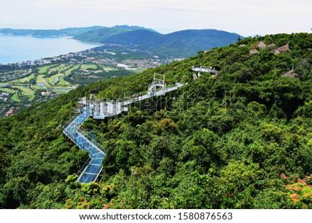 a glass bridge on the island of Hainan, Sanya