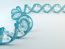 A glass DNA strand - genetics concept