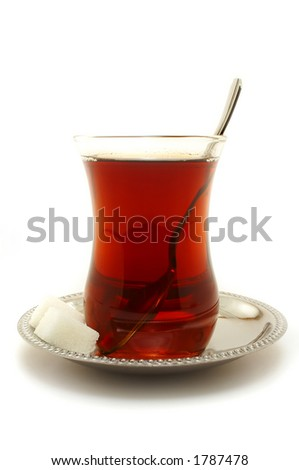 A glass of Turkish Tea.