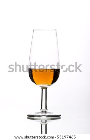 a glass of wine, filled with typical Spanish wine