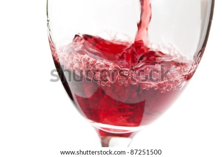 a glass of wine isolated on a white background #87251500