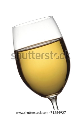 A glass with white wine