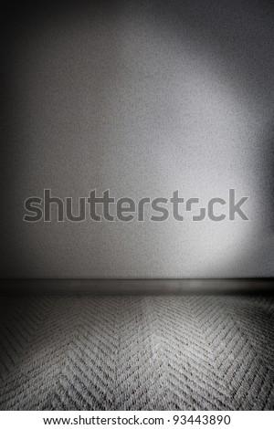 A gloomy and dark white room. - stock photo