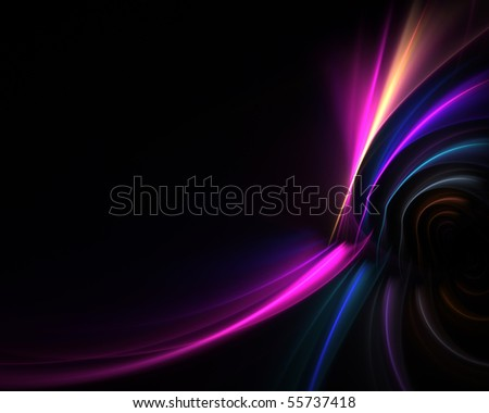 A glowing fractal design that works great as a background or backdrop. - stock photo