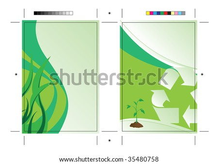 A going green postcard or direct mailer design template with sample text. Easily customize this to suit the needs of your business. Print ready 4 x 6 with bleeds and crop marks.