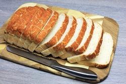 A Golden Crisp Crust On A Freshly Sliced Bread Bloomer.