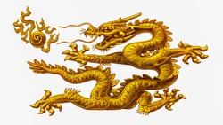 A golden dragon, A pack of commemorative notes to celebrate the Chinese Golden Dragon Year in the year 2000. Portrait from China Polymer Banknotes.