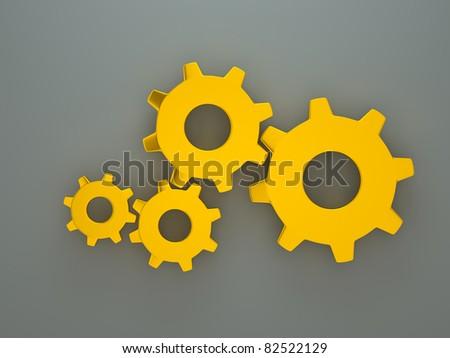 a golden gears