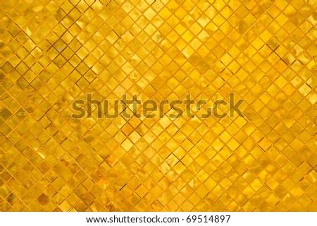 A golden tiles of a golden stupa in Wat Phra Kaew, Thailand