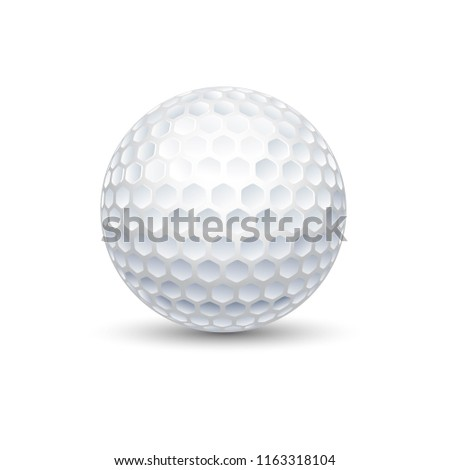 A golf ball is a special ball designed to be used in the game of golf. Under the rules of golf, a golf ball has a mass no more than 1.620 oz Stock fotó ©