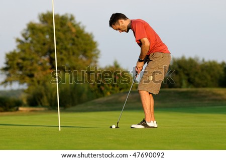 a golfer concentration