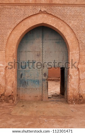 A good example of Moorish architecture in this arched doorway