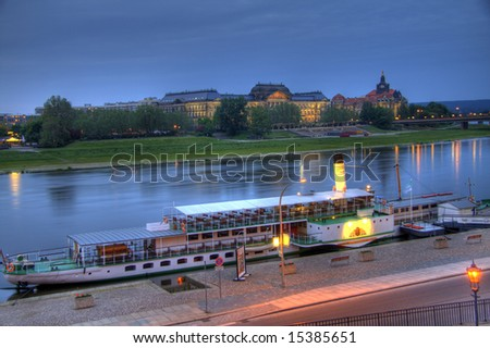 A gorgeous HDR image of a Dresden paddleboat