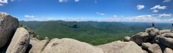 A gorgeous landscape of the the blue ridge mountain taken on top of the Old Rag Summit!