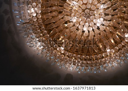 A gorgeous large crystal chandelier