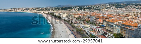 A gorgeous panorama of the city of Nice on the French Riviera