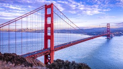 A gorgeuos view of the Golden Gate