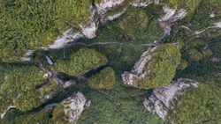 A Grand Canyon in Hubei Province China  Aerial photography