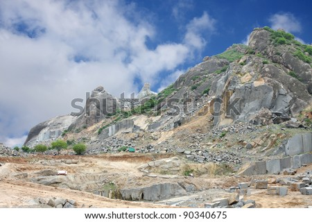 A granite quarry