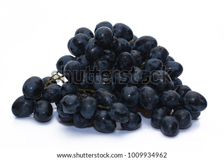 A grapes on a white background. #1009934962