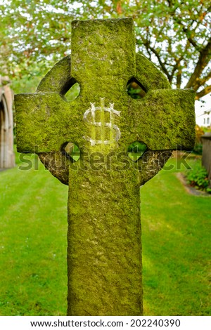 A gravestone IHS Christogram monogram