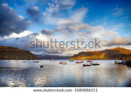 A great view about Isle of Skye, Portree #1080888251