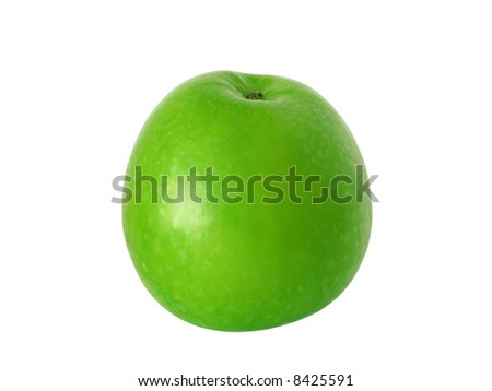 A green apple isolated on a white background